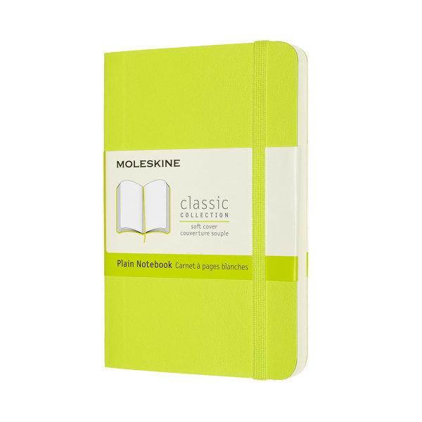CLASSIC NOTEBOOK POCKET PLAIN LEMON GREEN SOFT COVER