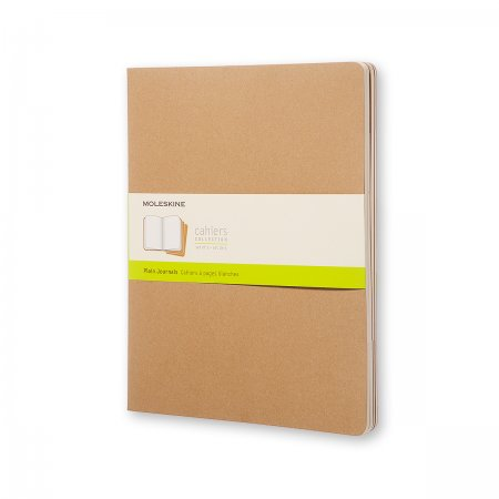 MOLESKINE CAHIER JOURNALS XXL PLAIN KRAFT BROWN QP433VF