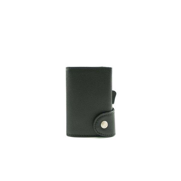 C-SECURE RFID Classic Leather Wallet Nero Black/ Black Card holder