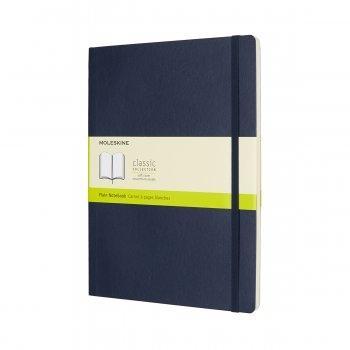 MOLESKINE NOTEBOOK XL PLAIN SAPPHIRE BLUE SOFT COVER QP623B20