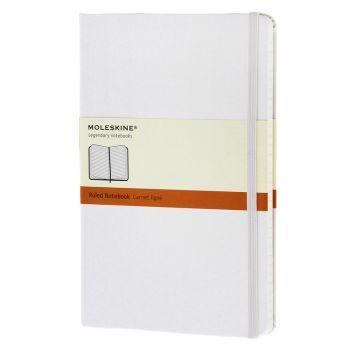 Moleskine Notebook Lg Ruled White Hard Cover Qp060Wh