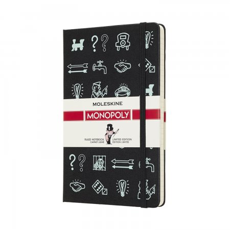 MOLESKINE MONOPOLY LIMITED EDITION NOTEBOOK LARGE RULED BLACK