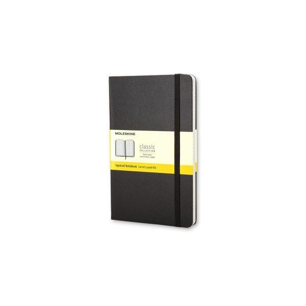 Moleskine Notebook Lg Squared Black Hard Cover Qp061