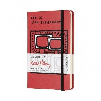 MOLESKINE KEITH HARING POCKET PLAIN SCARLET RED