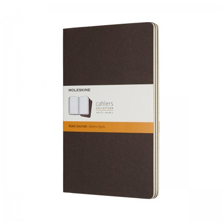 MOLESKINE CAHIER JOURNALS LARGE RULED COFFEE BROWN CH016P2