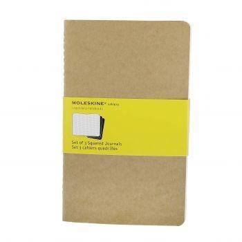 Moleskine Cahier Journals Lg Squared Kraft Qp417