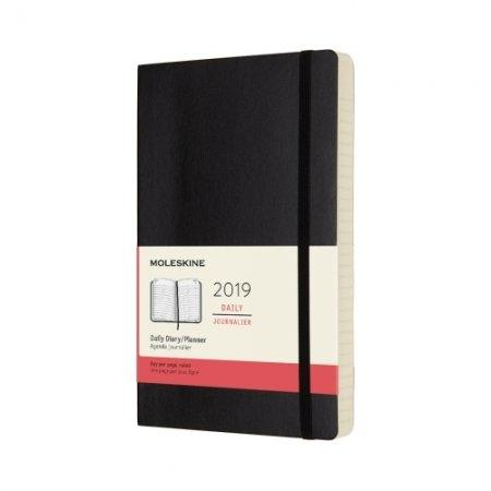 2019 12M DAILY POCKET BLACK HARD COVER