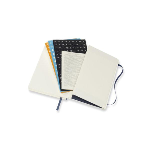 DSB2018WN2Y20 MOLESKINE PLANNER 18M WEEKLY NOTEBOOK POCKET S.BLUE SOFT COVER
