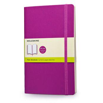 Moleskine Notebook Lg Plain Orchid Purple Soft Cover Qp618H4