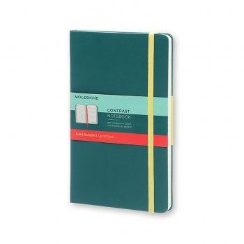 MOLESKINE Contrast Collection Large Ruled Hard Seaweed Green