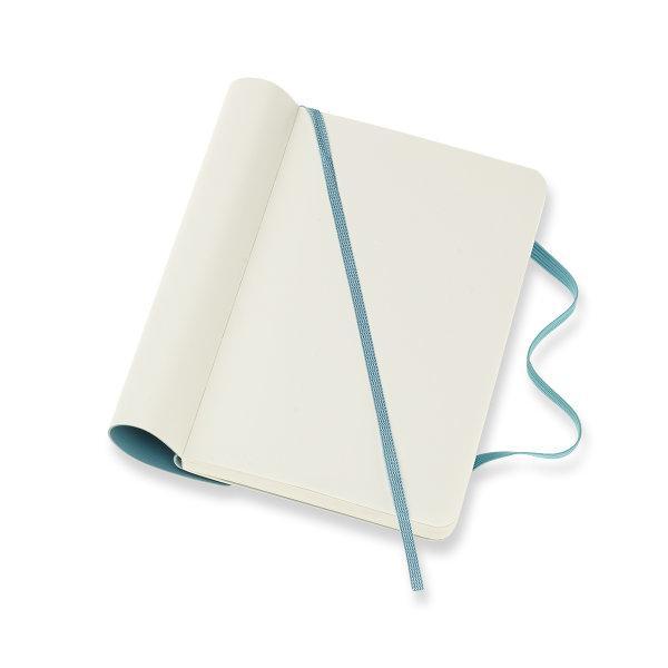 Moleskine สมุดบันทึก ปกอ่อน สีฟ้า ขนาดเล็ก 9x14 ซม MOLESKINE NOTEBOOK POCKET SOFT COVER R.BLUE 9X14 CM
