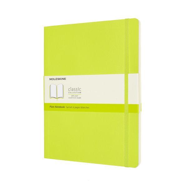 CLASSIC NOTEBOOK XL PLAIN LEMON GREEN SOFT COVER