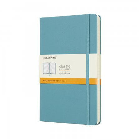 MOLESKINE NOTEBOOK LARGE RULED HARD COVER REEF BLUE QP060B35