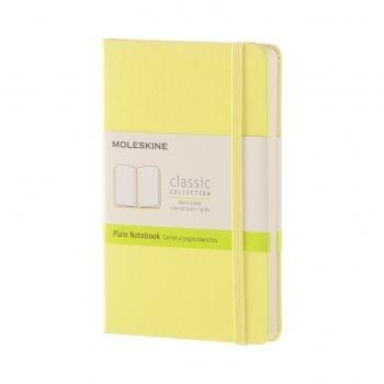 QP012M12 NOTEBOOK POCKET PLAIN CITRON YELLOW HARD COVER