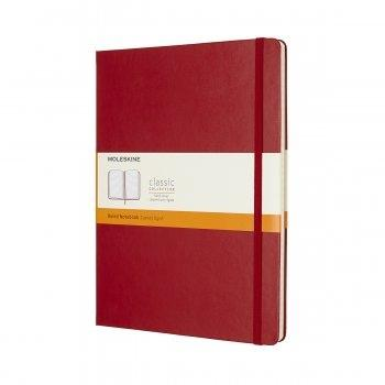 MOLESKINE NOTEBOOK XL RULED SCARLET RED HARD COVER QP090F2