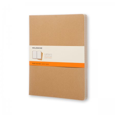 MOLESKINE CAHIER JOURNALS XXL RULED KRAFT BROWN QP431VF