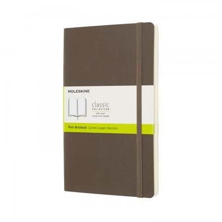 MOLESKINE NOTEBOOK LARGE PLAIN SOFT COVER EARTH BROWN QP618P14