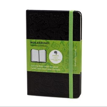 Moleskine Evernote Notebook Pkt Ruled Black Mm710Ever