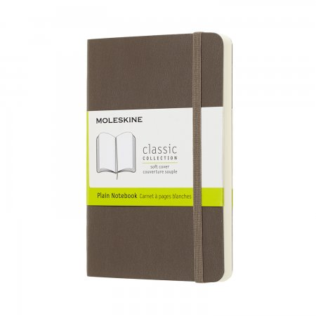 MOLESKINE NOTEBOOK POCKET PLAIN SOFT COVER EARTH BROWN QP613P14