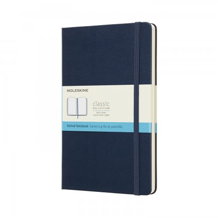 MOLESKINE NOTEBOOK LARGE DOT HARD COVER SAPPHIRE BLUE QP066B20