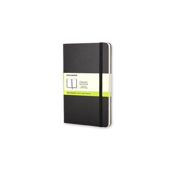 Moleskine Notebook Lg Plain Black Hard Cover Qp062