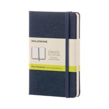 QP012B20  NOTEBOOK POCKET PLAIN SAPPHIRE BLUE HARD COVER