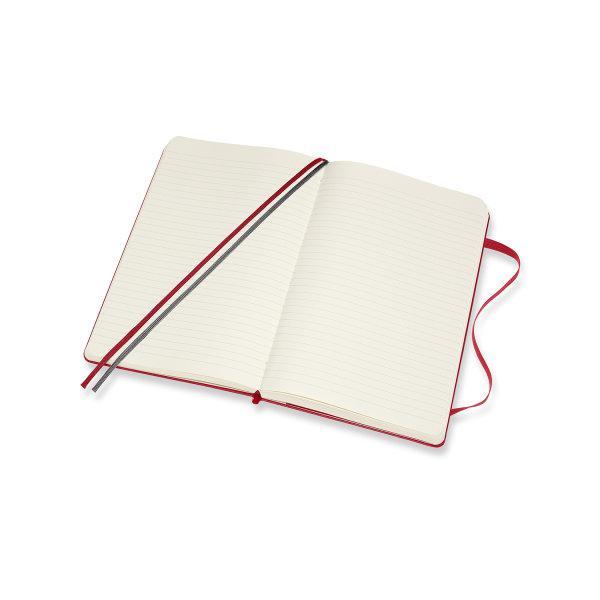 Moleskine สมุดบันทึก ปกแข็ง สีแดง ขนาดใหญ่ แบบหนา 13x21 ซม MOLESKINE NOTEBOOK EXPANDED LARGE HARD COVER S.RED 13X21 CM