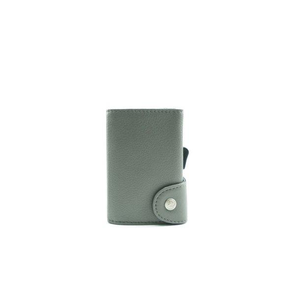 C-SECURE RFID Classic Leather Wallet Fog/ Silver Card holder