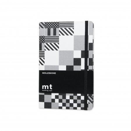 MOLESKINE x MT TAPE SPECIAL EDITION NOTEBOOK LG RULED BLACK & WHITE HARD MT