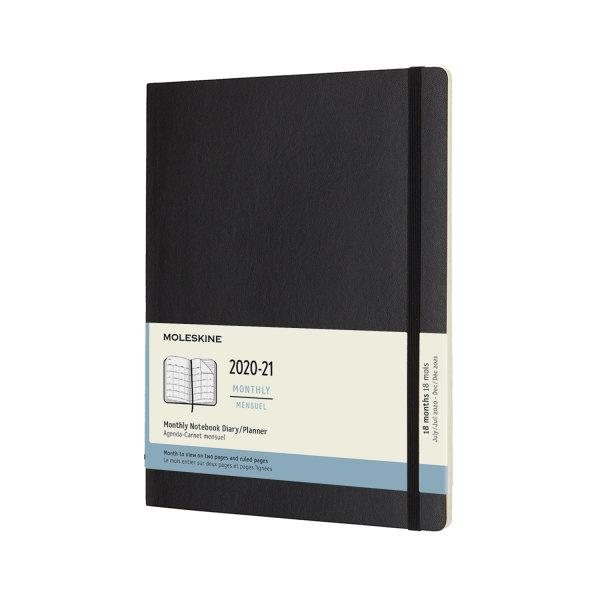 MOLESKINE 18-MONTHS MONTHLY XL BLACK SOFT COVER