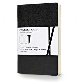 Moleskine Volant Notebooks Pkt Plain Black Qp713Bk
