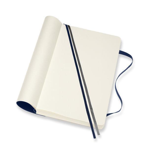 Moleskine สมุดบันทึก ปกอ่อน สีน้ำเงิน ขนาดใหญ่ แบบหนา 13x21 ซม MOLESKINE NOTEBOOK EXPANDED LARGE SOFT COVERSAP.BLUE 13X21 CM
