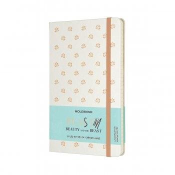 MOLESKINE LIMITED EDITION NOTEBOOK BEAUTY & BEAST LARGE RULED BEAUTY (ROSE)
