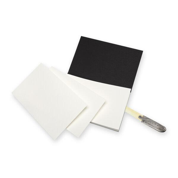 Moleskine สมุดวาดภาพสีน้ำ แบบฉีก ปกกระดาษ สีดำ MOLESKINE WATERCOLOUR BLOCK BLACK