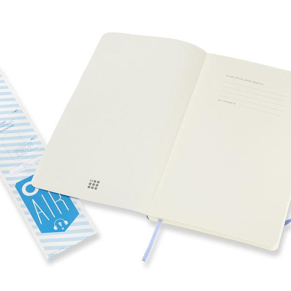 Moleskine สมุดบันทึก ปกอ่อน สีฟ้าไฮเดรนเยีย ขนาดใหญ่ 13x21 ซม MOLESKINE NOTEBOOK LARGE SOFT COVER H.BLUE 13X21 CM