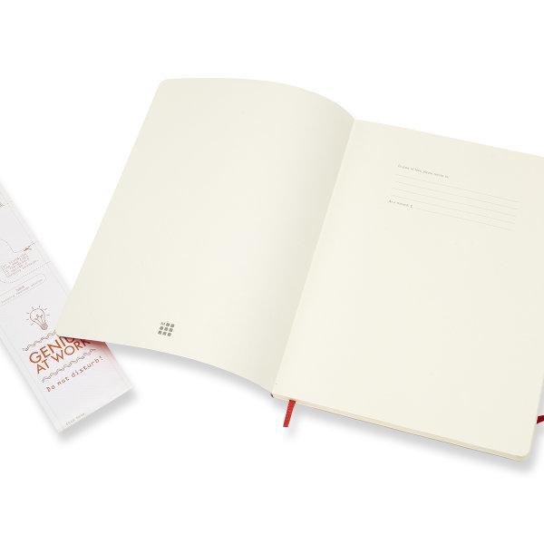 Moleskine สมุดบันทึก ปกอ่อน สีแดง ขนาดใหญ่พิเศษ 19x25 ซม MOLESKINE NOTEBOOK XL SOFT COVER S.RED 19X25CM