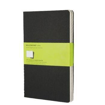 Moleskine Cahier Journals Lg Plain Black Qp318