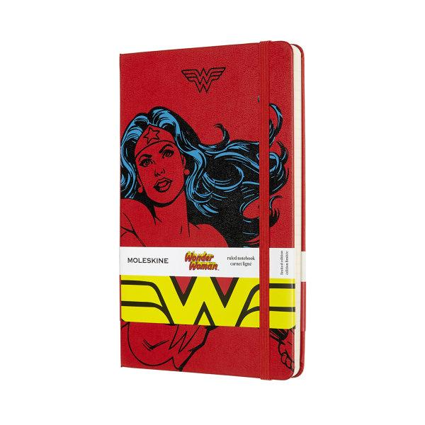 MOLESKINE LIMITED EDITION Notebook Wonder Woman Large Ruled Red