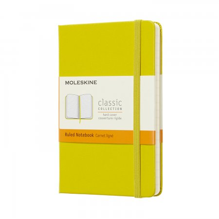 MOLESKINE NOTEBOOK POCKET RULED HARD COVER Dandelion Yellow MM710M18