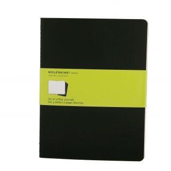 Moleskine Cahier Journals Xl Plain Black Qp323