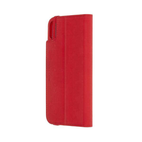 MOLESKINE CLASSIC SOFT-TOUCH BOOKTYPE CASE iPHONE XS MAX - READING - SCARLET RED