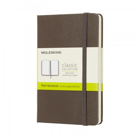 MOLESKINE NOTEBOOK POCKET PLAIN HARD COVER EARTH BROWN QP012P14