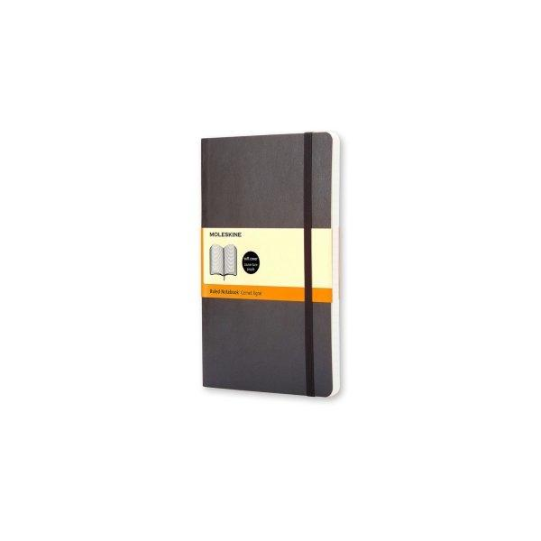 MOLESKINE NOTEBOOK LG RULED BLACK SOFT COVER QP616