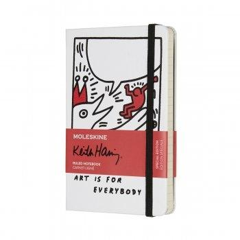 MOLESKINE KEITH HARING POCKET RULED WHITE