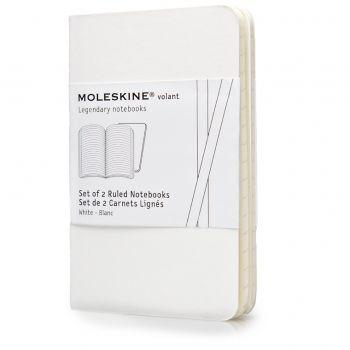 Moleskine Volant Notebooks Xs Ruled White Qp701Wh