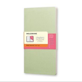 Moleskine Chapters M Ruled Mist Green Cpt061K9