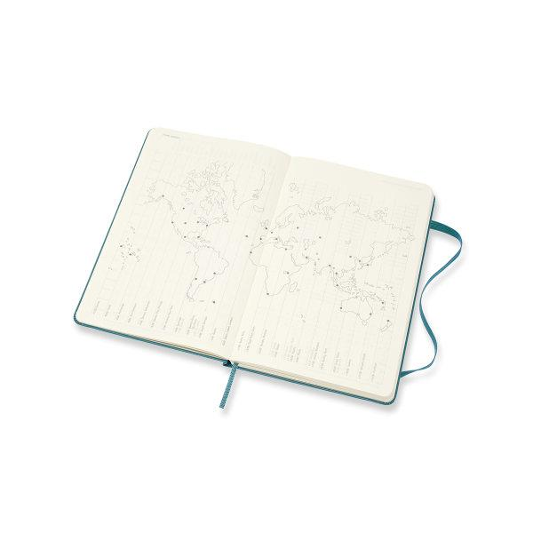 DHK3418WN3Y20 MOLESKINE PLANNER 18M WEEKLY NOTEBOOK LARGE MAGNETIC GREEN HARD COVER