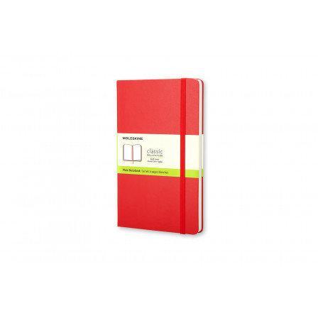 Moleskine Notebook Lg Plain Red Hard Cover Qp062R