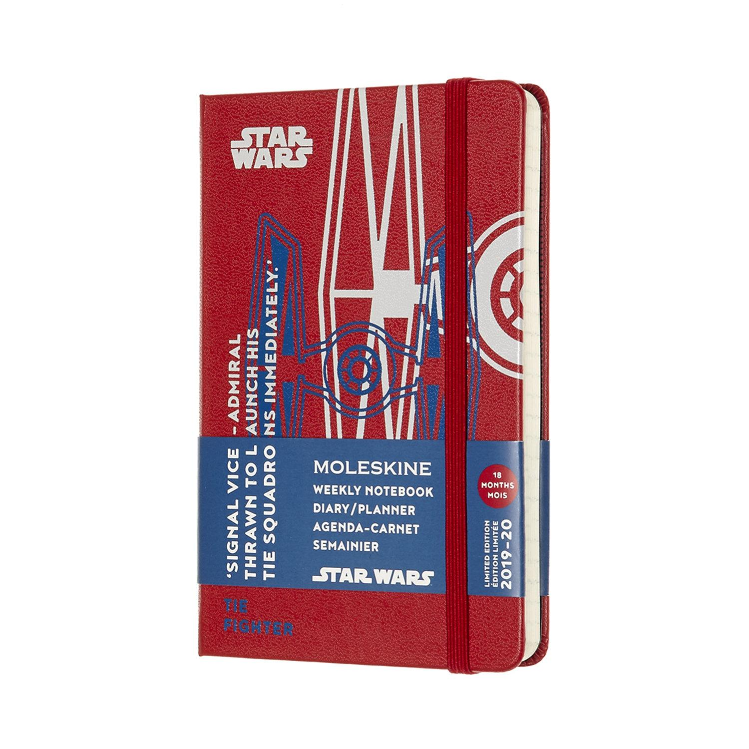 DSW18WN2Y20 MOLESKINE PLANNER STARWARS WEEKLY 18M WEEKLY  POCKET RED