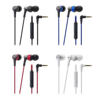 Audio Technica  ATH-CKR3iS Sound Reality Earphones-Push-Pull Driver W/remote and Microphone for iphone& Smartphone